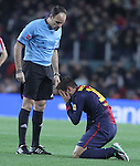 01.12.2012. Barcwelona, Spain. La Liga. Picture show Jordi Alba in action during match between FC Barcelona against Athletic at Camp Nou