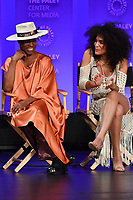 "HOLLYWOOD, CA - MARCH 23: Billy Porter and Indya Moore at PaleyFest 2019 for FX's ""Pose"" panel at the Dolby Theatre on March 23, 2019 in Hollywood, California. (Photo by Vince Bucci/FX/PictureGroup)"