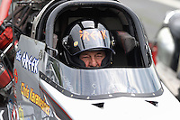 May 10, 2013; Commerce, GA, USA: NHRA top fuel dragster driver Chris Karamesines during qualifying for the Southern Nationals at Atlanta Dragway. Mandatory Credit: Mark J. Rebilas-