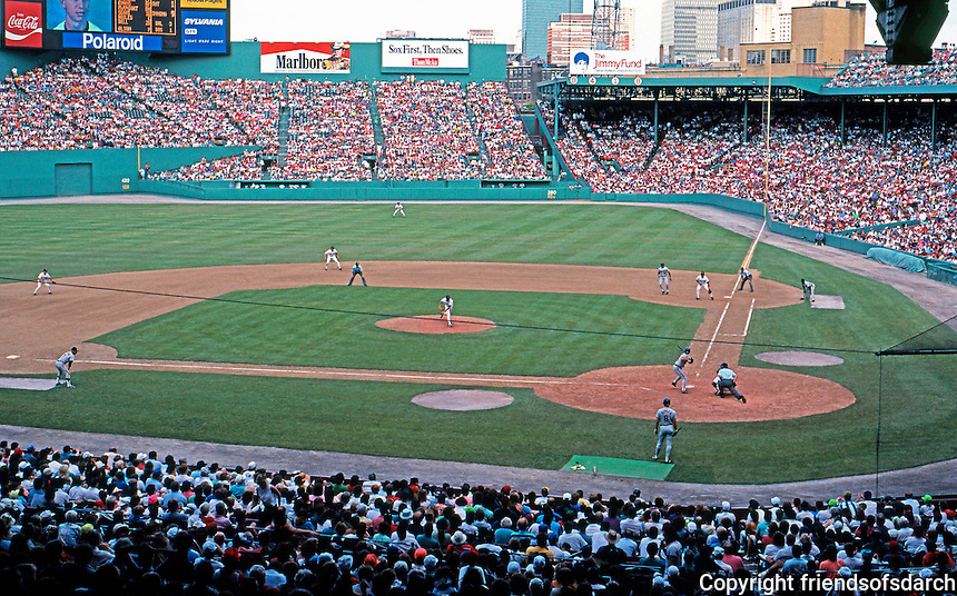 Ballparks: Boston Fenway Park from the back of Grandstand.