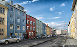 Colourful buildings in downtown Reykjavik
