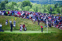 Patrick Reed (USA) hits his tee shot on 7 during Sunday's round 4 of the 117th U.S. Open, at Erin Hills, Erin, Wisconsin. 6/18/2017.<br /> Picture: Golffile | Ken Murray<br /> <br /> <br /> All photo usage must carry mandatory copyright credit (&copy; Golffile | Ken Murray)