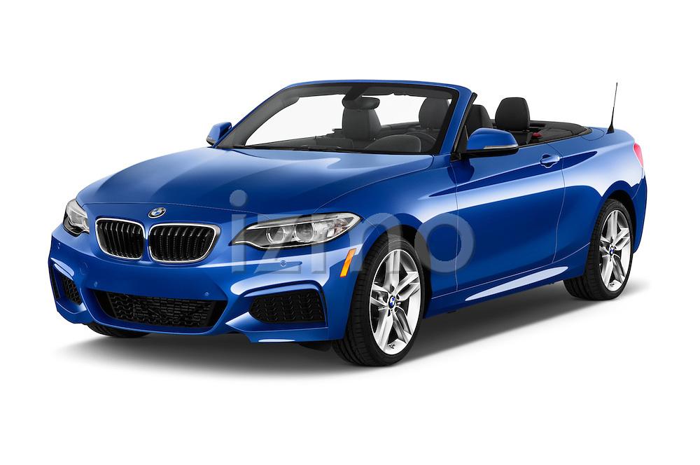 2015 BMW 2 Series 228i 2 Door Convertible Angular Front stock photos of front three quarter view