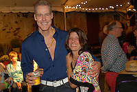NEW HOPE, PA -  SEPTEMBER 21:  Guest enjoy the New Hope Historical Society party celebrating January's Disco at the Hugh Marshall Farm September 21, 2013 in New Hope, Pennsylvania. (Photo by William Thomas Cain/Cain Images)