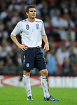 Frank Lampard of England during the Friendly International match at Wembley Stadium, London. Picture date 28th May 2008. Picture credit should read: Simon Bellis/Sportimage