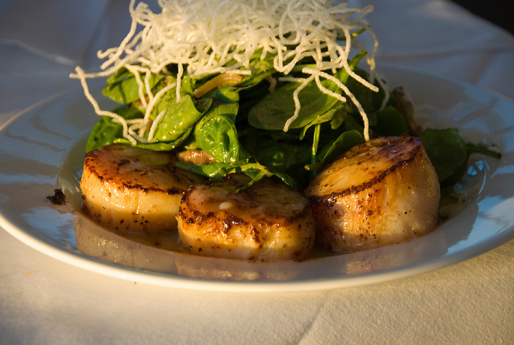 San Francisco: Scallops dish at Cliff House Restaurant. Photo 7-casanf76457 Photo copyright Lee Foster.