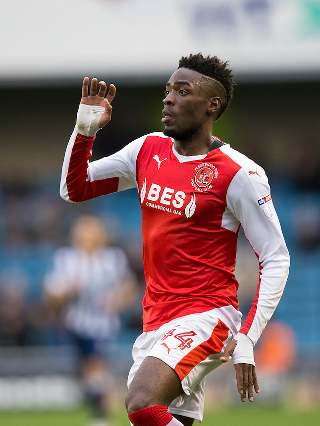 Fleetwood Town's Devante Cole in action<br /> <br /> Photographer Craig Mercer/CameraSport<br /> <br /> The EFL Sky Bet League One - Millwall v Fleetwood Town - Saturday 22nd October 2016 - The Den - London<br /> <br /> World Copyright &copy; 2016 CameraSport. All rights reserved. 43 Linden Ave. Countesthorpe. Leicester. England. LE8 5PG - Tel: +44 (0) 116 277 4147 - admin@camerasport.com - www.camerasport.com