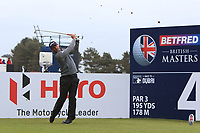Paul Waring (ENG) on the 4th tee during Round 1 of the Betfred British Masters 2019 at Hillside Golf Club, Southport, Lancashire, England. 09/05/19<br /> <br /> Picture: Thos Caffrey / Golffile<br /> <br /> All photos usage must carry mandatory copyright credit (© Golffile | Thos Caffrey)