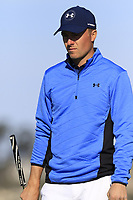 Jordan Spieth (USA) on the 7th green during Sunday's Final Round of the 2018 AT&amp;T Pebble Beach Pro-Am, held on Pebble Beach Golf Course, Monterey,  California, USA. 11th February 2018.<br /> Picture: Eoin Clarke | Golffile<br /> <br /> <br /> All photos usage must carry mandatory copyright credit (&copy; Golffile | Eoin Clarke)