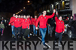 Glenbeigh/Glencar Captain Colin McGillicuddy and  Cathal Griffin lead the team at their homecoming in Glenbeigh on Monday night