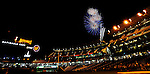 11 July 2008: Fireworks highlight the evening sky after the Washington Nationals defeat the Houston Astros at Nationals Park in Washington, DC. The Nationals shut out the Astros 10-0 in the first game of their 3-game series...Mandatory Photo Credit: Ed Wolfstein Photo