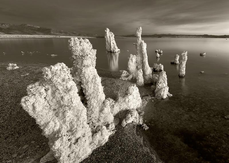 Tufa at Mono Lake with sunrise. California