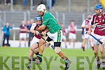 Ballyduff's Gary O'Brien and Causeway's Tommy Barrett in action at Austin Stack park, Tralee on Saturday.