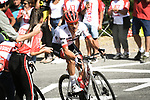 Jasper Stuyven (BEL) Trek-Segafredo attacks on the final climb during Stage 14 of the 2018 Tour de France running 188km from Saint-Paul-Trois-Chateaux to Mende, France. 21st July 2018. <br /> Picture: ASO/Pauline Ballet | Cyclefile<br /> All photos usage must carry mandatory copyright credit (&copy; Cyclefile | ASO/Pauline Ballet)