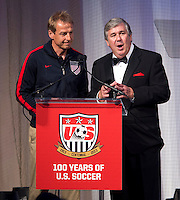 Jurgen Klinsmann, Bob Ley. US Soccer held their Centennial Gala at the National Building Museum in Washington DC.