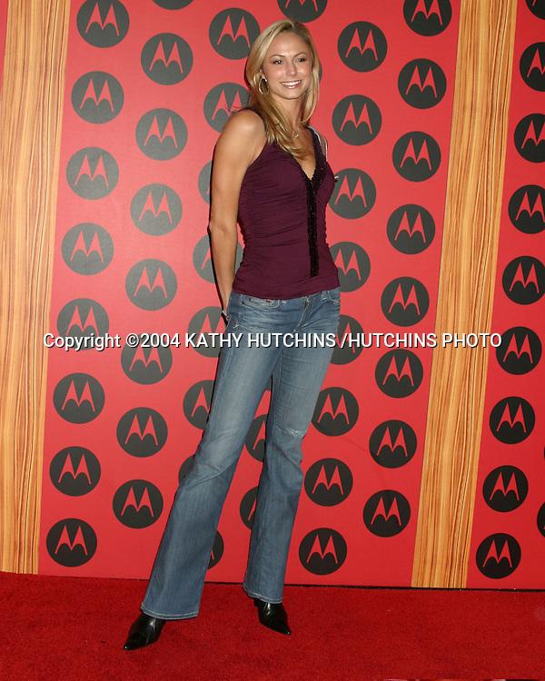 ©2004 KATHY HUTCHINS /HUTCHINS PHOTO.MOTOROLA 6TH ANNIVERSARY PARTY.HOLLYWOOD, CA.DECEMBER 2, 2004..STACY KEIBLER