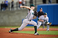 Siena Saints starting pitcher Brendan White (31) delivers a pitch during a game against the Florida Gators on February 16, 2018 at Alfred A. McKethan Stadium in Gainesville, Florida.  Florida defeated Siena 7-1.  (Mike Janes/Four Seam Images)
