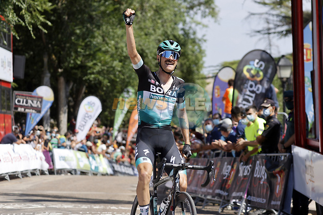 Felix Grossschartner (AUT) Bora-Hansgrohe wins Stage 1 of the Vuelta a Burgos 2020, 42nd Edition, running 157km from the Catedral de Burgos to Mirador del Castillo Burgos, Spain. 28th July 2020. <br /> Picture: Bora-Hansgrohe/Luis Angel Gomez/BettiniPhoto | Cyclefile<br /> <br /> All photos usage must carry mandatory copyright credit (© Cyclefile | Bora-Hansgrohe/Luis Angel Gomez/BettiniPhoto)