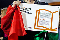 """Rome, 23/05/2018. Today, """"Associazione daSud"""" & """"Ap - Accademia Popolare dell'antimafia e dei diritti"""", to mark the 26th Anniversary of the assassination of Antimafia judge Giovanni Falcone and the 70th Anniversary of the Italian Constitution, held a conference called """"Nasce il Distretto dei Diritti e della Costituzione"""" (""""The District of Rights and the Constitution is born""""). The event supported by schools, Mayor of Rome and other organizations, was supposed to be a march and a consequent rally in the streets of Cinecittá, a suburb of Rome well known to be the largest film studio in Europe and for mafia's related crimes and intimidations. However, the bad weather forced the organisers to quickly transform it in a conference."""
