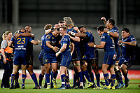Otago celebrate winning the 2018 Mitre 10 Cup Championship rugby semifinal between Canterbury and Counties Manukau at Forsyth Barr Stadium in Dunedin, New Zealand on Saturday, 20 October 2018. Photo: Joe Allison / lintottphoto.co.nz