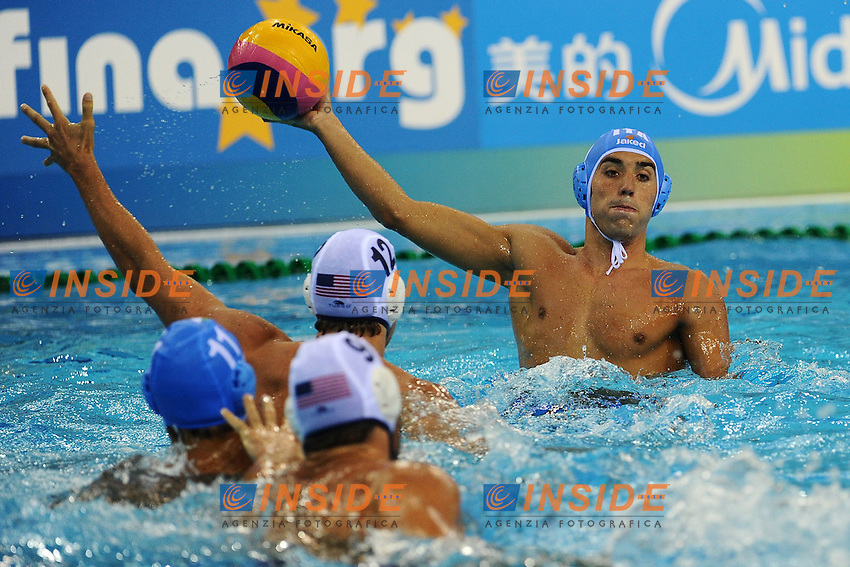 Alex GIORGETTI Italia.Men's Waterpolo USA vs ITALY.Shanghai 20/7/2011 .14th FINA World Championships.Foto Andrea Staccioli Insidefoto