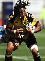 Ma'a Nonu..Super 14 rugby union match, Hurricanes v Cheetahs at Yarrows Stadium, New Plymouth, New Zealand. Saturday 7 March 2009. Photo: Dave Lintott / lintottphoto.co.nz