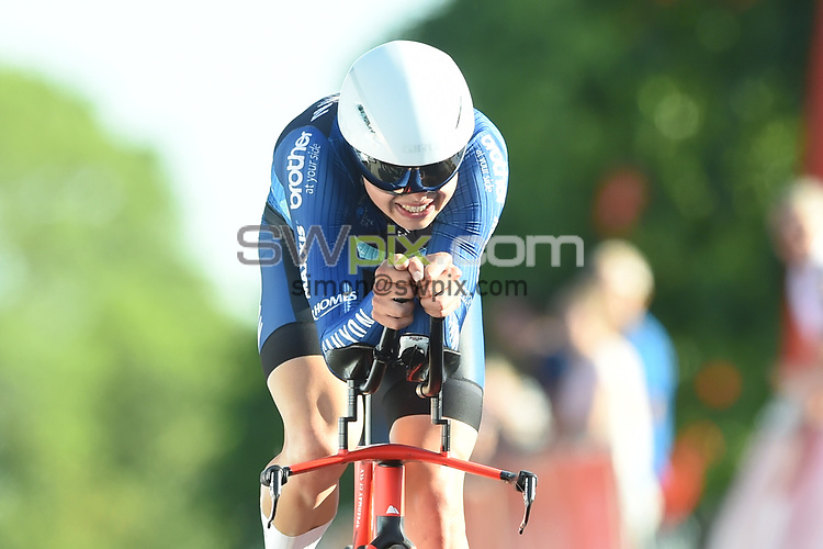Picture by SWpix.com 28/06/2018 - HSBC UK Men's National Time Trial Championships - Kirkley Hall, Northumberland, England - Harry Tanfield of Canyon Eisberg