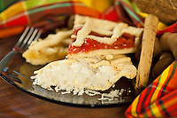 """Coconut, guava & pineapple tarts Cruzian cuisine """"West Indian local dishes"""""""