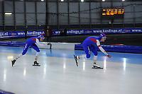 SCHAATSEN: GRONINGEN: Sportcentrum Kardinge, 03-02-2013, Seizoen 2012-2013, Gruno Bokaal, Thom van Beek, Jos de Vos, ©foto Martin de Jong