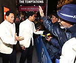 "Derrick Baskin and Jeremy Pope starring in ""Ain't Too Proud: The Life And Times Of The Temptations"" after their first Broadway preview performance at The Imperial Theatre on February 28, 2019 in New York City."