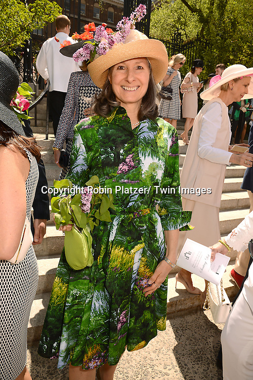 Karen Glanternik attends the 32nd Annual Frederick Law Olmsted Awards Hat Luncheon given by The Central Park Conservancy on May 7,2014 in Central Park in New York City, NY USA.