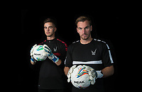Goalkeepers Henry Newcombe & Scott Brown during the PEAK Elite Sportswear Photoshoot at Wycombe Training Ground, High Wycombe, England on 1 August 2017. Photo by PRiME Media Images.