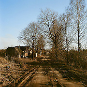 90 per cent of houses in Izborsk are wooden. Traditional houses made of entire round logs are called 'izba'. Hence the name of the place, Izborsk.
