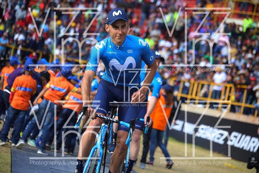 TUNJA - COLOMBIA, 11-02-2020: Carlos Verona (ESP) del equipo MOVISTAR TEAM durante la primera del Tour Colombia 2.1 2020 que se correrá en Boyacá, Colombia entre el 11 y 16 de febrero de 2020. / Carlos Verona (ESP) of MOVISTAR TEAM during the launch of Tour Colombia 2.1 2020 that that will run between February 11 and 16, 2020 in Boyacá, Colombia.  Photo: VizzorImage / Darlin Bejarano / Cont