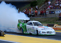 Jul, 20, 2012; Morrison, CO, USA: NHRA funny car driver Jack Beckman during qualifying for the Mile High Nationals at Bandimere Speedway. Mandatory Credit: Mark J. Rebilas-