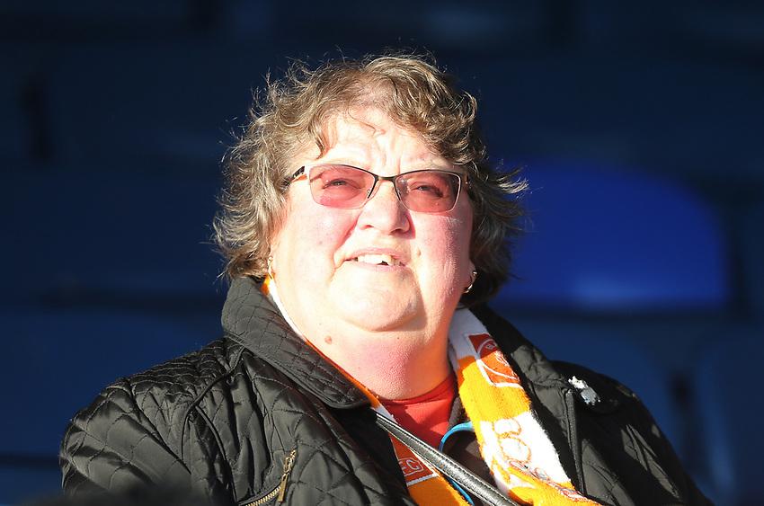 Blackpool fan<br /> <br /> Photographer Rob Newell/CameraSport<br /> <br /> The EFL Sky Bet League One - Southend United v Blackpool - Saturday 17th November 2018 - Roots Hall - Southend<br /> <br /> World Copyright © 2018 CameraSport. All rights reserved. 43 Linden Ave. Countesthorpe. Leicester. England. LE8 5PG - Tel: +44 (0) 116 277 4147 - admin@camerasport.com - www.camerasport.com