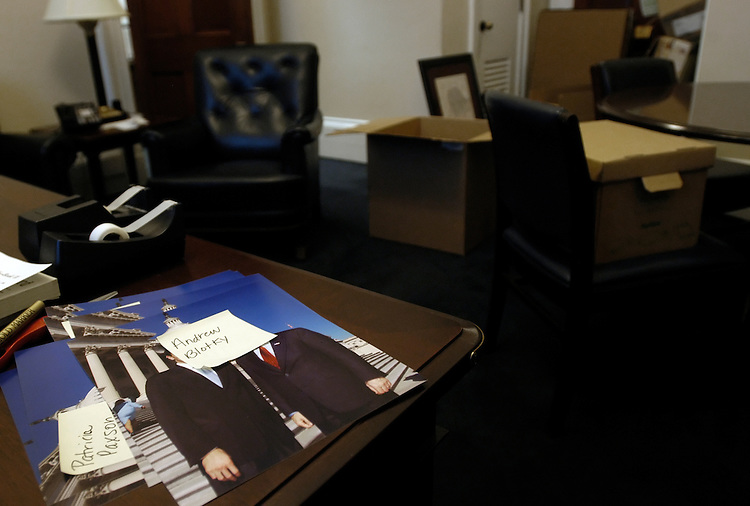 Rep. Jim Turner's (D-Tx.) Canon office is being gradually packed away before he leaves the House of Representatives.