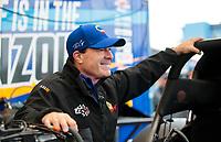 Feb 9, 2020; Pomona, CA, USA; NHRA funny car driver Ron Capps during the Winternationals at Auto Club Raceway at Pomona. Mandatory Credit: Mark J. Rebilas-USA TODAY Sports