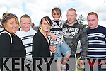MONSTER TIME: Enjoying the Monster Car Show at Tralee Racecourse on Monday from l-r were: Eileen, John, Leona, Shannon McInerney, Ryan O'Sullivan and CJ McInerney..
