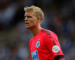 Jonas Lossl of Huddersfield Town during the premier league match at the John Smith's Stadium, Huddersfield. Picture date 20th August 2017. Picture credit should read: Simon Bellis/Sportimage