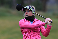 Sara Byrne (Douglas) on the 1st tee during Round 1 of the Irish Girls U18 Open Stroke Play Championship at Roganstown Golf &amp; Country Club, Dublin, Ireland. 05/04/19 <br /> Picture:  Thos Caffrey / www.golffile.ie