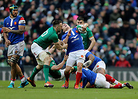 Sunday10th March 2019 | Ireland vs France<br /> <br /> Antoine Dupont is tackled high by Jack Conan during the Guinness 6 Nations clash between Ireland and France at the Aviva Stadium, Lansdowne Road, Dublin, Ireland. Photo by John Dickson / DICKSONDIGITAL