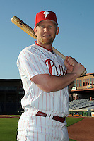 Feb 20, 2009; Clearwater, FL, USA; The Philadelphia Phillies outfielder Geoff Jenkins (10) during photoday at Bright House Field. Mandatory Credit: Tomasso De Rosa/ Four Seam Images