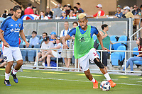 San Jose, CA - Saturday June 17, 2017: Anibal Godoy prior to a Major League Soccer (MLS) match between the San Jose Earthquakes and the Sporting Kansas City at Avaya Stadium.