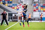 nph00351:  Fussball, 1. Bundesliga, Saison 19/20, 26. Spieltag, Fortuna Düsseldorf - FC Paderborn 07, 16.05.2020: Kenan Karaman (Fortuna Düsseldorf, l.) im Kopfballduell mit Mohamed Dräger (SC Paderborn 07).<br /> <br /> Foto: Moritz Müller/Pool /Verbreitung via Meuter/nordphoto<br /> <br /> Nur für journalistische Zwecke! Only for editorial use!<br /> <br /> Gemäß den Vorgaben der DFL Deutsche Fußball Liga ist es untersagt, in dem Stadion und/oder vom Spiel angefertigte Fotoaufnahmen in Form von Sequenzbildern und/oder videoähnlichen Fotostrecken zu verwerten bzw. verwerten zu lassen. DFL regulations prohibit any use of photographs as image sequences and/or quasi-video.