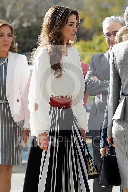 Queen Rania of Jordan visits the 'Severo Ochoa' Molecular Biology Centre at the Universidad Autonoma of Madrid. November 18, 2015. (ALTERPHOTOS/Acero)