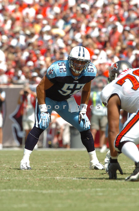 RYAN FOWLER, of the Tennessee Titans , in action during the Titans games against the Tampa Bay Buccaneers , in Tampa Bay, FL on October 14, 2007.  ..The Buccaneers won the game 13-10...COPYRIGHT / SPORTPICS..........