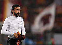 Calcio, quarti di finale di Coppa Italia: Roma vs Juventus. Roma, stadio Olimpico, 21 gennaio 2014.<br /> Juventus midfielder Andrea Pirlo leaves the pitch at the end of the Italian Cup round of eight final football match between AS Roma and Juventus, at Rome's Olympic stadium, 21 January 2014. AS Roma won 1-0.<br /> UPDATE IMAGES PRESS/Riccardo De Luca