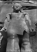 From the New Empire to the Lower Period..Transfer of the colossus of Ramses II, (XIXth dynasty - 1,350 B.C.) from Memphis to the central train station in Cairo in 1954. Hassabollah Taieb did not miss recording the event.....TAIEB HASSABOLLAH/COLLECTION PATRICK CHAPUIS-PHILIPPE FLANDRIN