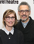 Katherine Borowitz and John Turturro attends the Off-Broadway Opening Night of the Signature Theatre's 'Thom Pain' at the Signature Theatre on November 11, 2018 in New York City.